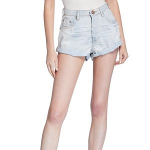 One Teaspoon Bandits Destroyed Double-Cuff Shorts